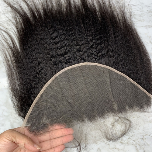 Kinky Straight HD Lace Frontal 13X6 Human Hair Frontal Pre Plucked Natural Hairline With Baby Hair HD Lace Hair