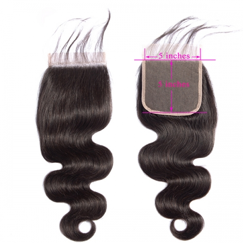 Transparent Lace Closure 5x5 Body Wave Virgin Hair Lace Front Closure