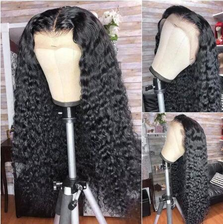 Deep Wave T part  Human Hair Wigs For Women Charming Hair Wigs Brazilian Deep Wave T-Part Lace Wigs