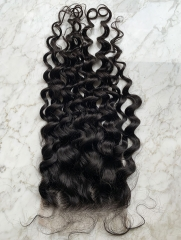 Water  Wave 6x6 HD Lace Closure Virgin Hair Lace Front Closure Pre Plucked With Baby Hair