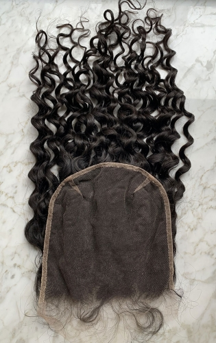 Water Wave HD Lace Closure Virgin Human Hair 7x7 Lace Closure Pre Plucked Natural Hairline