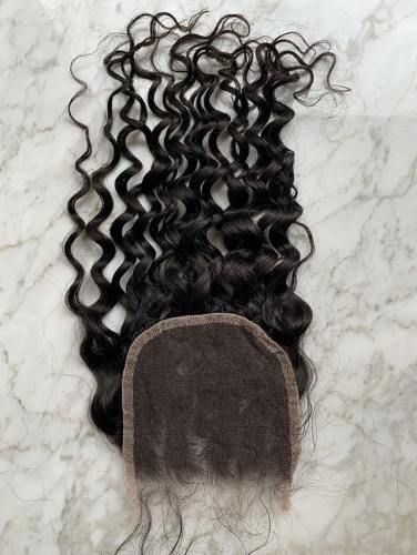 5x5 HD Lace Closure Water Wave Virgin Human Hair HD Lace Front  Closure Pre Plucked Natural Hairline