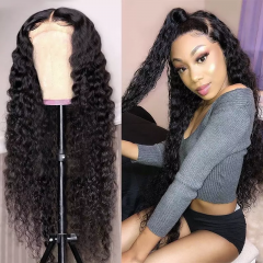 Deep Wave HD Lace Closure Wig Virgin Human Hair 6x6 HD Closure Wigs Wavy Lace Front Wig