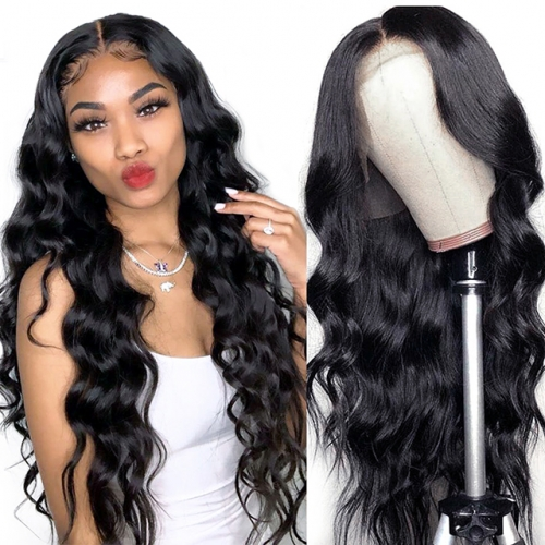 Body Wavy Glueless Lace Front Human Hair Wigs With Baby Hair Virgin Human Hair Lace Wigs Pre Plucked For Black Women