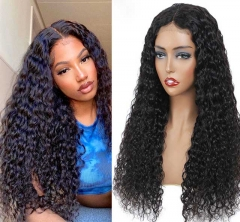 13x4  Lace Front Wigs Water Wave Wig Human Hair Wigs Pre-Plucked Hairline Curly Lace Closure Wig