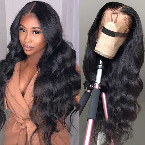 Body Wave Full Lace Wig Virgin Human Hair Lace Wig With Baby Hair Pre Plucked Natural Hairline Hair Wig For Black Women